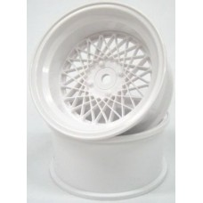 MESH WHEEL Reinforced 6mm Offset (White) (2pcs) - Mikuni