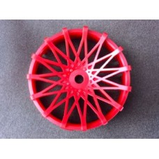 "TT-7579 ""Super RIM"" DISC ""DAHLIA"" Hot Red 2pcs"