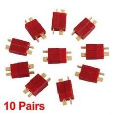 RC Lipo Battery Helicopter 10pairs 120A Ultra T Plug Connectors Male Female for Deans (20pc - 10 Male - 10 Female)