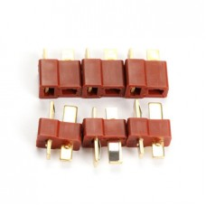 RC Lipo Battery Helicopter 3Pair T Plug (6pc - 3 Male - 3 Female)